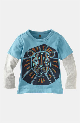 Tea Collection Layered Sleeve T-Shirt (Toddler)