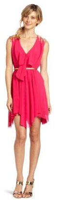 XOXO Juniors Tie Front Pleated Day Dress