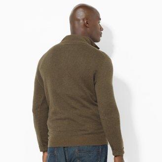 Polo Ralph Lauren Big & Tall Wool Button Mockneck
