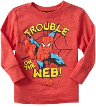"""Spiderman Marvel Comics™ Trouble on the Web!"""" Tees for Baby"""