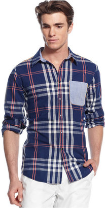 INC International Concepts Shirt, Daywalker Plaid Shirt