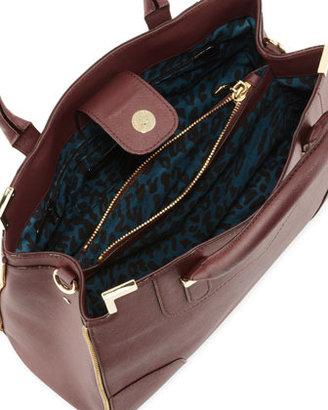 Rebecca Minkoff Amorous Saffiano Satchel Bag, Black Cherry