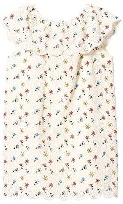 Chloé Cream Broderie Anglaise Mini Me Floral Print Dress