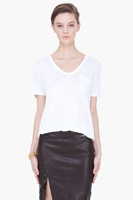 Alexander Wang white Classic v-neck t-shirt