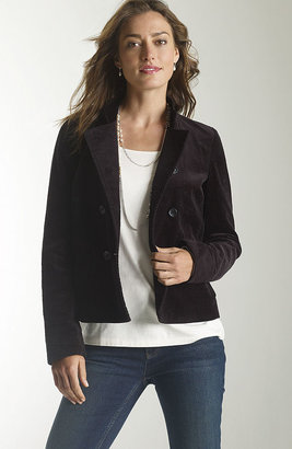 J. Jill Double-breasted tumbled cord jacket