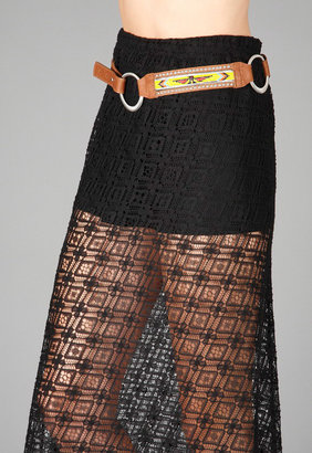 Streets Ahead Beaded Belt with Silver Rings and Studs in Multi