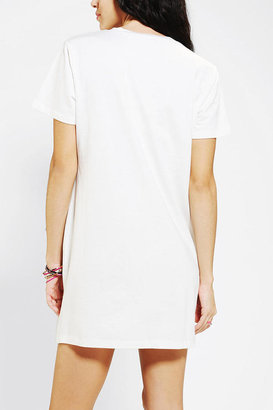 Urban Outfitters Lucca Couture Faux Leather T-Shirt Dress