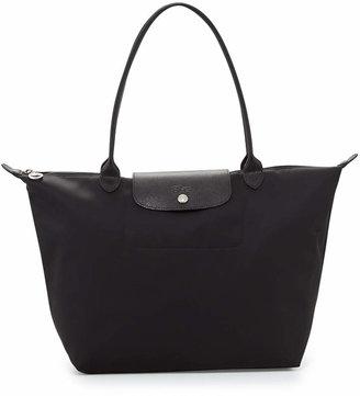 Longchamp Le Pliage Neo Large Nylon Shoulder Tote Bag, Black