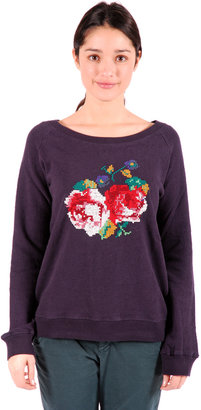 Leon & Harper Floral Cross-Stiched Sweater
