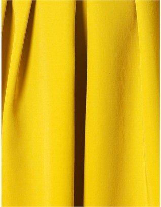 Antonio Marras Yellow Wool Midi Skirt