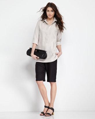 Neiman Marcus Linen Tunic, Ocean Sand