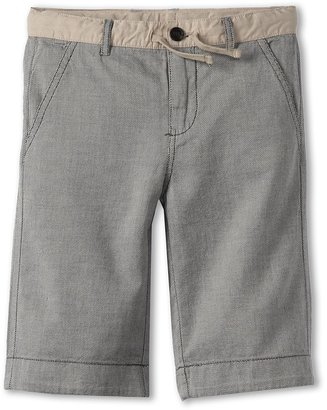 Benetton Kids - Boys' Houndstooth Sweat Shorts (Little Kids/Big Kids) (Cream/Navy) - Apparel