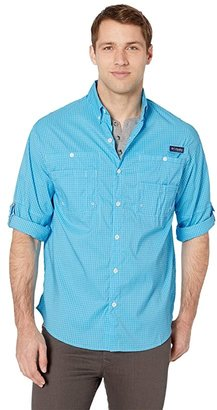 Columbia Super Tamiamitm Long Sleeve Shirt (Riptide Mini Plaid) Men's Long Sleeve Button Up