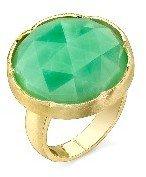 Irene Neuwirth Rose Cut Chrysoprase Ring - Yellow Gold