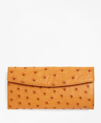 Brooks Brothers Ostrich Wallet