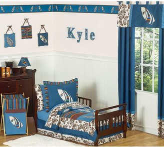 JoJo Designs Sweet Surf Toddler Bedding Collection in Blue/Brown