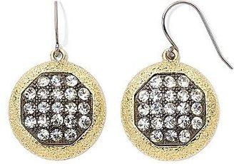 Monet Gold-Tone Crystal Cluster Drop Earrings