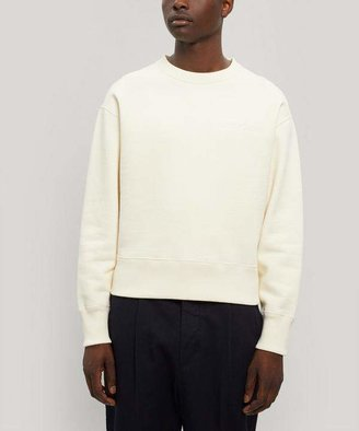 Ami Oversized Embroidered Logo Sweater