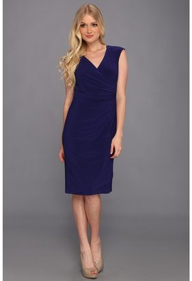 Christin Michaels Kathryn Dress (Navy) - Apparel
