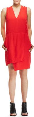 J Brand Ready to Wear Mina Assymettic Crepe Dress