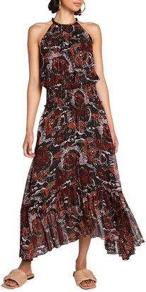 A.L.C. Metallic Halter Cocktail Dress