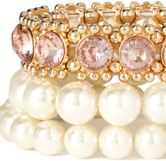 Forever 21 Fancy Faux Pearl Bracelet Set