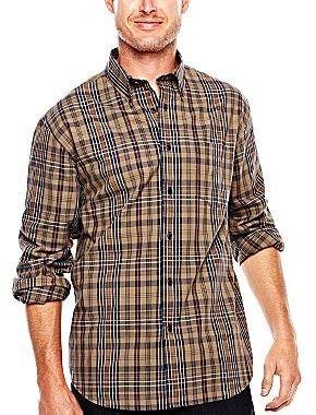 Arrow Long-Sleeve Madras Plaid Shirt