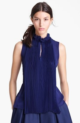 Oscar de la Renta Pleated Blouse