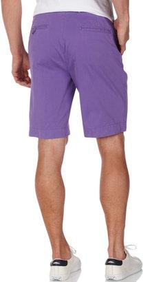 Bobby Jones Flat-Front Twill Shorts, Iris