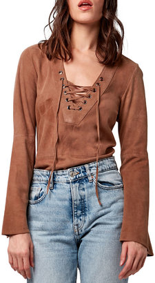 As By Df Mallorca Suede Lace-Up Tunic