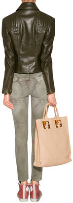 Current/Elliott Army Green/Multi Cotton Skinny Stiletto Jeans