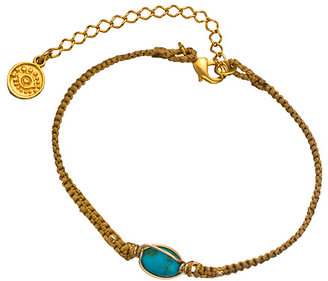 Blee Inara Turquoise and Tan Braided Bracelet