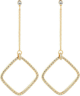 Fragments for Neiman Marcus Pave Square Golden Earrings