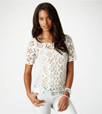American Eagle AE Sheer Lace T