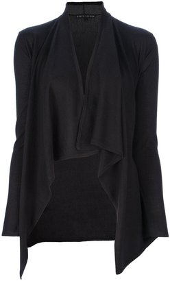 Ralph Lauren Black Label Asymmetric draped cardigan