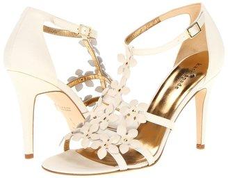 Kate Spade Sass (Ivory Grosgrain/Cream Nappa Flowers) - Footwear