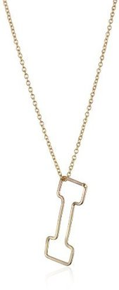 Gauge Gold-Filled Bubble Monogram Mini-I Pendant Necklace