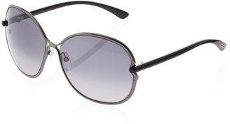 Tom Ford Leila Rounded Sunglasses, Gunmetal