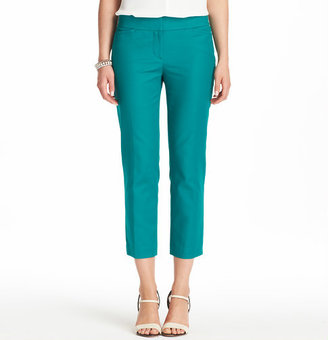 LOFT Marisa Cropped Pants in Doubleweave Cotton