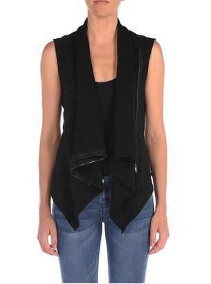 Blank NYC Vegan Leather And Ponte Vest