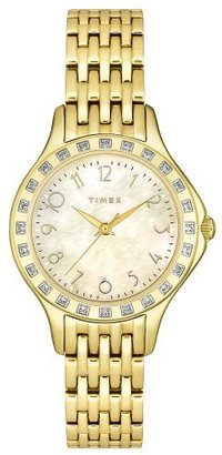 Timex Women's T2M573 Diamond Accented Gold-Tone Stainless Steel Bracelet Watch $419.29 thestylecure.com
