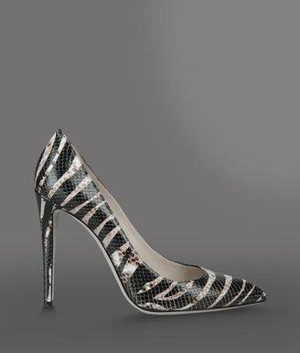 Emporio Armani Pump In Zebra Print Leather