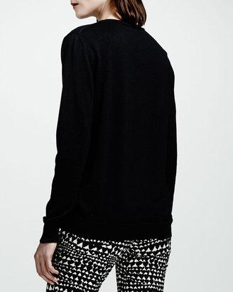 Stella McCartney Lipstick Intarsia Knit Sweater, Black