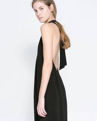 Zara Dress With Low-Cut Back