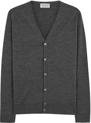 John Smedley Petworth Charcoal Wool Cardigan