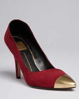 Dolce Vita Pointed Toe Cap Toe Pumps - Selina High Heel