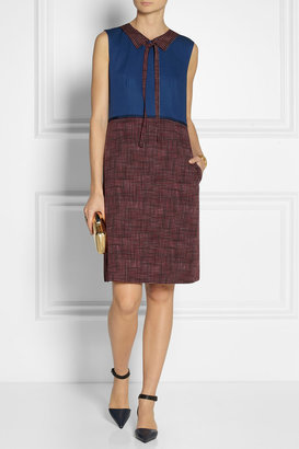 Marc Jacobs Printed wool-twill dress