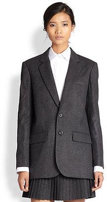 Vanessa Bruno Pinstriped Wool Flannel Blazer