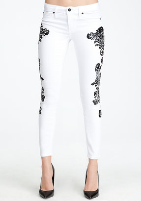 Bebe Lace Icon Skinny Jeans