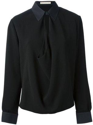 Balenciaga draped shirt